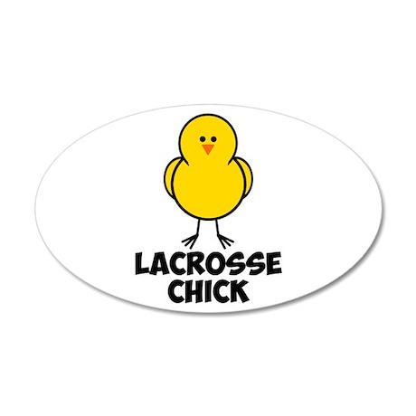Lacrosse Chick 38.5 x 24.5 Oval Wall Peel