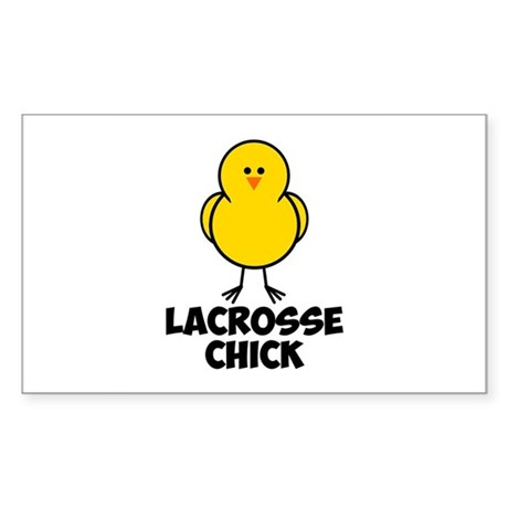 Lacrosse Chick Sticker (Rectangle)