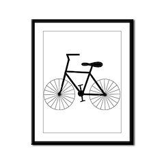 Cycling Design Framed Panel Print