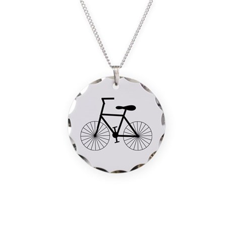 Cycling Design Necklace Circle Charm