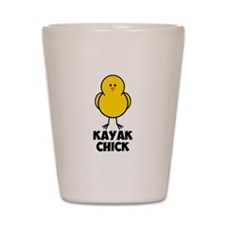 Kayak Chick Shot Glass