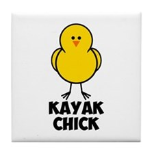 Kayak Chick Tile Coaster