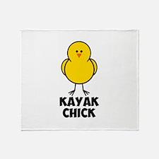Kayak Chick Throw Blanket