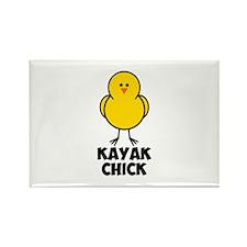 Kayak Chick Rectangle Magnet