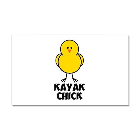 Kayak Chick Car Magnet 20 x 12