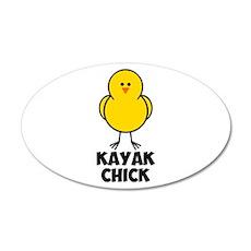 Kayak Chick 22x14 Oval Wall Peel