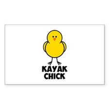 Kayak Chick Decal
