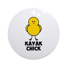 Kayak Chick Ornament (Round)