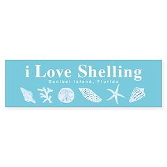 i Love Shelling Bumper Sticker