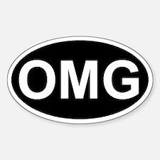 Cute Geek oval Sticker (Oval)