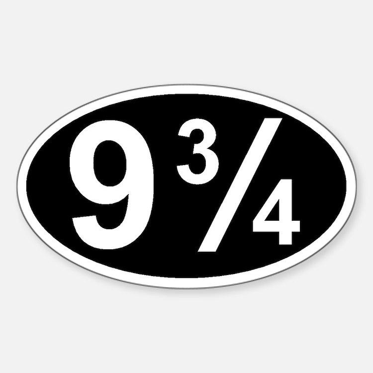 Cute Geek window Sticker (Oval)