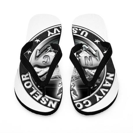 USN Navy Counselor Skull NC D Flip Flops