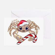 Christmas Ghost Crab Greeting Card