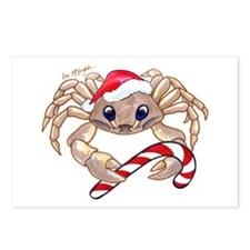 Christmas Ghost Crab Postcards (Package of 8)