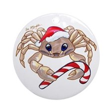 Christmas Ghost Crab Ornament (Round)