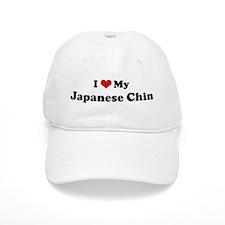 I Love Japanese Chin Baseball Cap