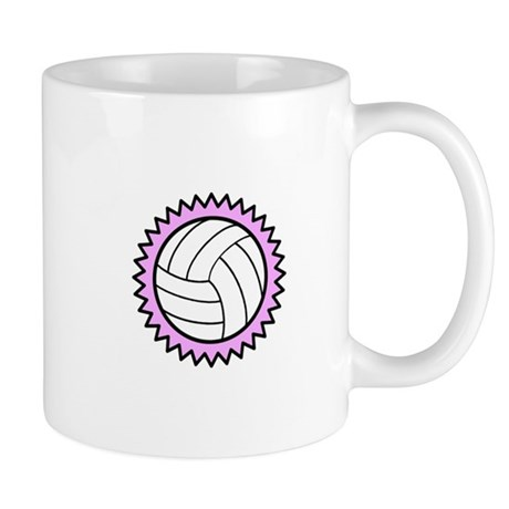Volleyball on pink Mugs