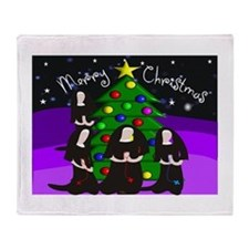 Catholic Nuns Christmas Throw Blanket