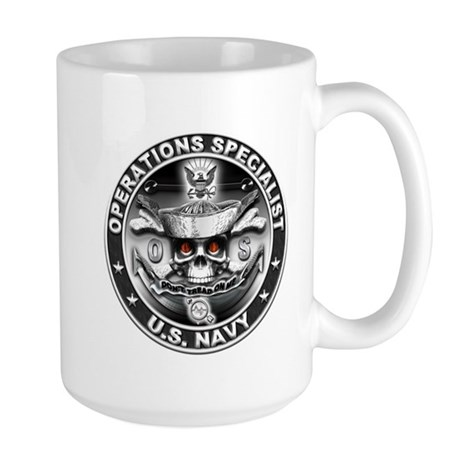 USN Operations Specialist Sku Large Mug