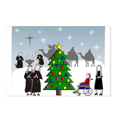 Catholic Nuns Christmas Postcards (Package of 8)