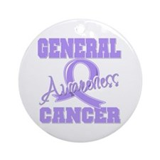 General Cancer Awareness Ornament (Round)