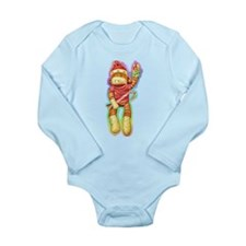 Christmas Sock Monkey Clothin Long Sleeve Infant B