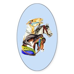 Carousel Horses Decal