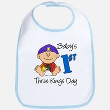 Baby's First Three Kings Day Bib
