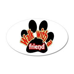 Walk With a Friend 38.5 x 24.5 Oval Wall Peel