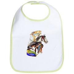 Carousel Horses Bib