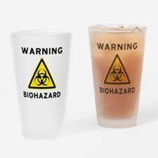 Biohazard Warning Sign Drinking Glass