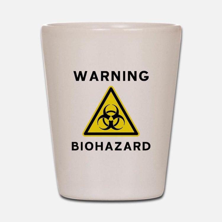 Biohazard Warning Sign Shot Glass