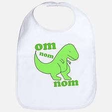 om NOM NOM dinosaur chomps Bib