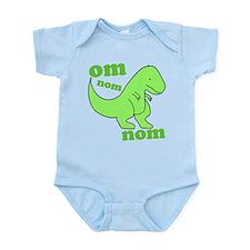 om NOM NOM dinosaur chomps Infant Bodysuit