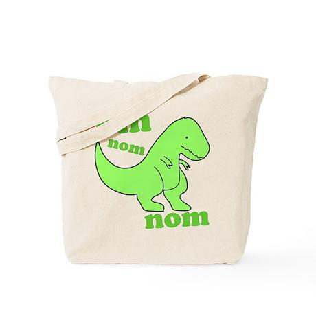 om NOM NOM dinosaur chomps Tote Bag