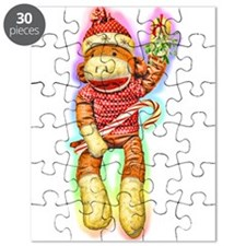 Glowing Christmas SockMonkey Puzzle