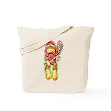 Glowing Christmas SockMonkey Tote Bag