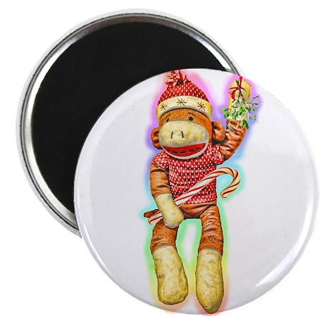 Glowing Christmas SockMonkey Magnet