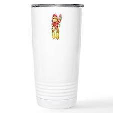 Glowing Christmas SockMonkey Travel Mug