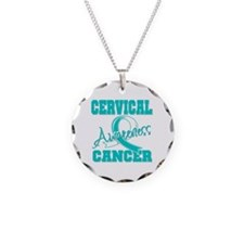 Cervical Cancer Awareness Necklace Circle Charm