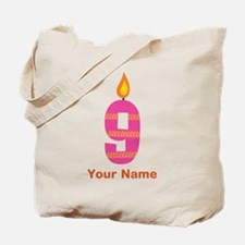 9th Birthday Candle Tote Bag