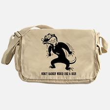 Honey Badger Wants Beer Messenger Bag