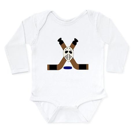 Ice Hockey Design Long Sleeve Infant Bodysuit