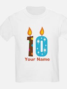 Custom 10th Birthday Candle T-Shirt