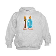 Custom 10th Birthday Candle Hoodie