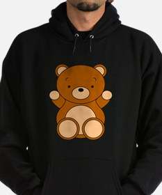 Cute Cartoon Bear Hoodie (dark)