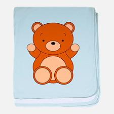 Cute Cartoon Bear baby blanket