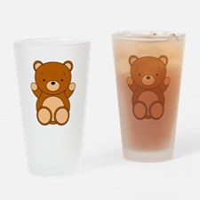 Cute Cartoon Bear Drinking Glass