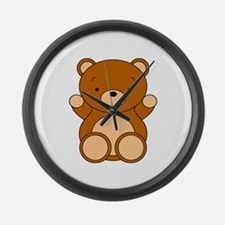 Cute Cartoon Bear Large Wall Clock