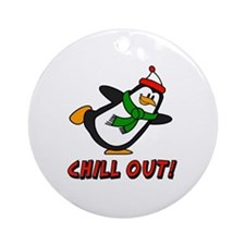 Chilly Willy Chill Out Ornament (Round)